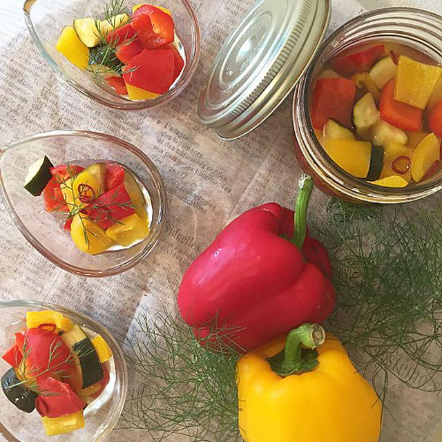暑い時期にぴったり~唐辛子効かせて塩分控えめの夏野菜ピクルス