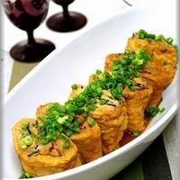 【温泉水99】豆腐とひじきがたっぷりな油揚げの詰め煮