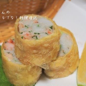 里芋の湯葉包み揚げ 里芋コロッケも♪  &岐阜のお土産「栗きんとん」  &「モリタ屋」さんのお肉
