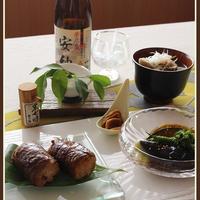 肉巻き赤飯!と、夏野菜の揚げ浸し【むらせライス・赤飯モニター】