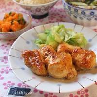 フライパンで3品簡単ごはん♪鶏胸肉つやつやマスタード