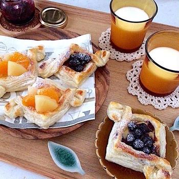 フルーツ&ブルーベリーのカスタードパイ