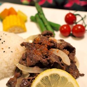 カレー風味のスパイシー焼き肉