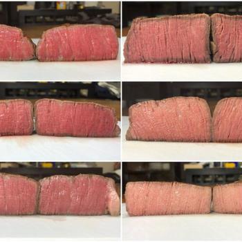 【低温調理】牛ヒレ肉のステーキ 温度50℃・55℃・60℃・65℃・70℃で比較