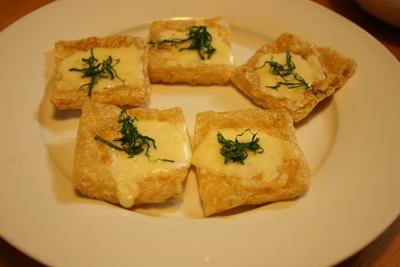 油揚げのチーズ焼き