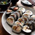 懐かしおいしい恵方巻き(巻き寿司)と秋刀魚のつみれ汁