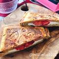 ふすまパンでチェリーチーズのホットサンド(動画有)