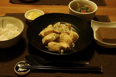 鶏と大根のレモンクリーム煮夜ご飯