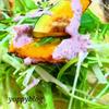 水菜とかぼちゃの梅マヨサラダ