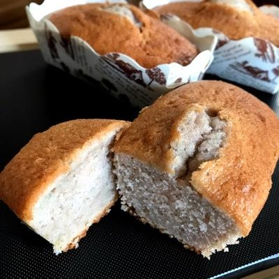 紫芋のミニパウンドケーキ〈ホットケーキミックス・紫芋パウダー使用〉