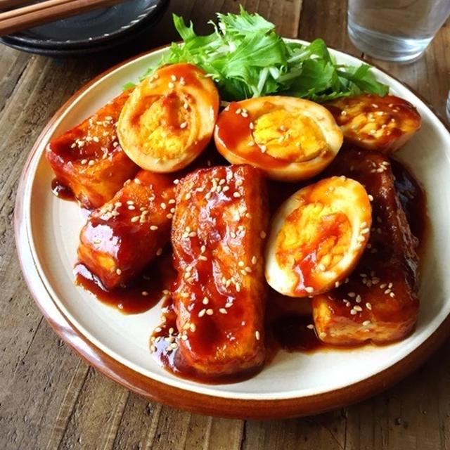 ♡黄金比率de超簡単♡豆腐と卵のコチュ照り煮♡【時短*節約*ヘルシー】
