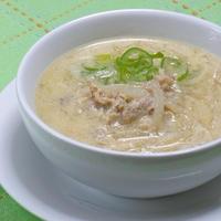 寒〜い夜は生姜であったまろう!サッと煮えて簡単とろとろ〜豚肉と大根の豆乳おかずスープ。