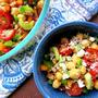 カラフルなひよこ豆のサラダ