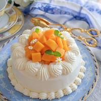 マンゴーショートケーキで1年のお祝いを
