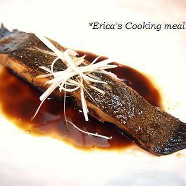 フライパンで♪カレイの煮付け。