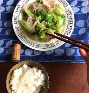 【簡単!!5分おかず】レタスと豚バラ肉のつやつや塩だれ炒め
