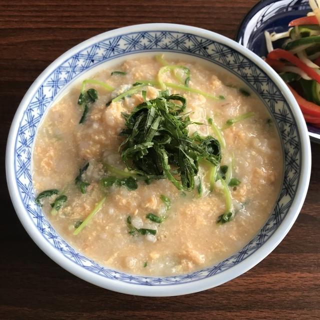 簡単おいしい明太子と卵の和風粥【余り物消費レシピ】
