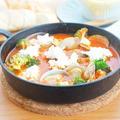 白身魚のカッテージチーズ入りトマトパッツァ