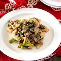 《レシピ》蓮根と挽き肉の粒マスタード炒め。