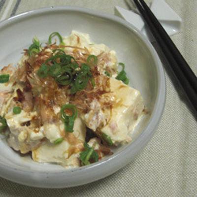 冷やしツナマヨ豆腐