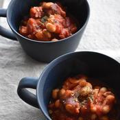 タコと豆のピリ辛トマト煮