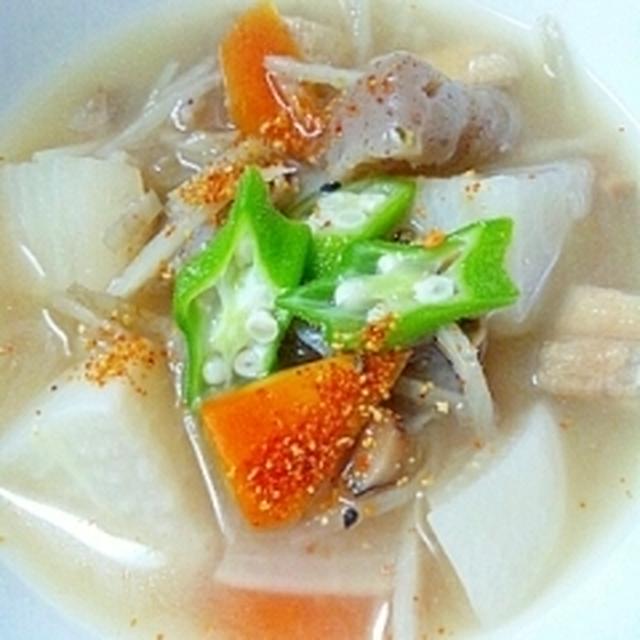油揚げと凍み野菜の旨味汁