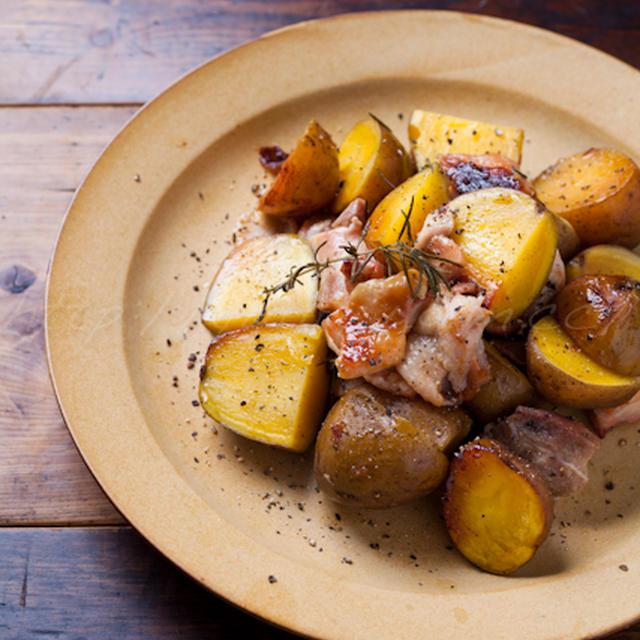 塩麹鶏とじゃが芋のポットロースト & じゃが芋のリメイク