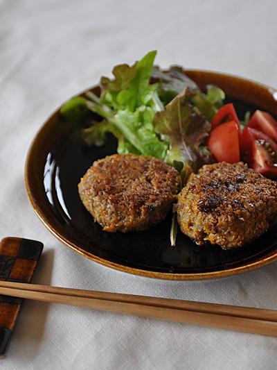 野菜ハンバーグ(卵なし)