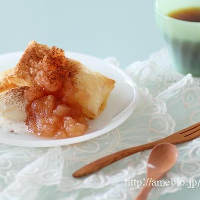 りんごジャムと簡単アップルパイ風 レシピブログ連載
