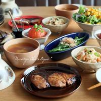 焼魚と夏野菜の晩ご飯♪