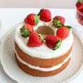 いちごのネイキッドケーキ。バームクーヘンで簡単!【料理家 いがらしかな】