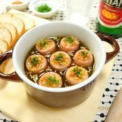 魚肉ソーセージのアヒージョ