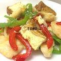 安い鶏胸肉で♪ニンニク香る鶏肉とピーマンの中華炒め