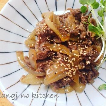 【簡単】牛肉と玉ねぎの和風スタミナ炒め*初めての習い事