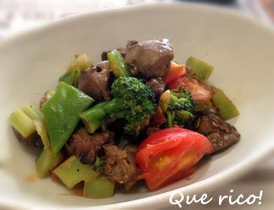お惣菜が栄養満点メニューに変身!レバーと夏野菜炒め