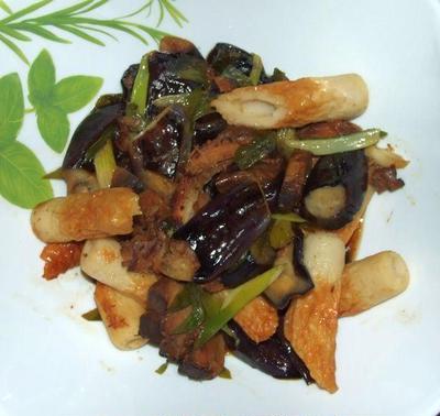 茄子と竹輪の焼きびたし&トマト素麺