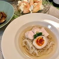 ひんやり鶏だしで「親子麺」【ヤマキだし部】