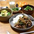 【豚肉と小松菜のにんにくごま味噌炒め】#スピードおかず#スタミナ#簡単#ごはんのおかず …しんどかった日の晩ごはん
