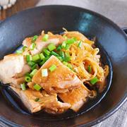 鍋に入れて煮るだけ15分♪『鶏肉ともやしのしょうがオイスター煮』【作り置き*節約*お弁当】