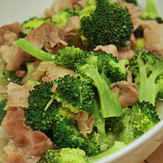 【 豚とブロッコリーの炒め物 とろっと塩生姜 】