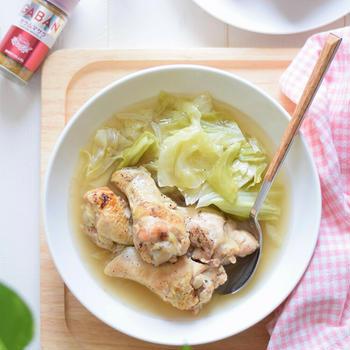 【スパイスアンバサダー】鶏手羽元とキャベツのガラムマサラコンソメスープ♡癒し系&腸活スープ♪