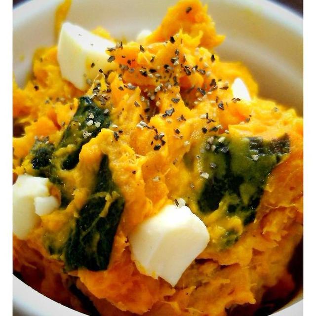 ほっこり☆デリ風かぼちゃのサラダ*レンジで簡単 !
