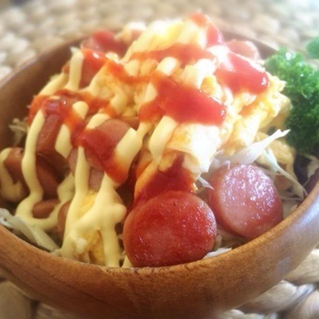 ウインナーエッグのパワーサラダ