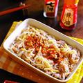 しらたきと豚ばら肉のピリ辛!レンチン七味生姜煮