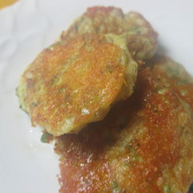 菊菜の芯のお焼き