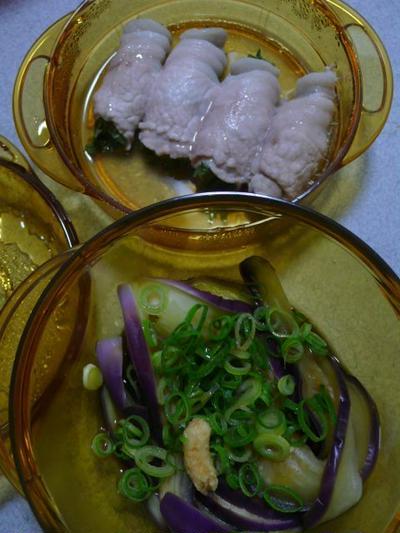 時短クッキングレシピ 豚肉のシソ巻きと茄子のぽん酢和え