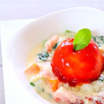【おもてなし料理】マッシュポテトのトマトソースがけとクリームシチューの作り方レシピ