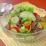 サラなすの焼き肉サラダ