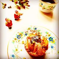 プルーンと庄内柿のチーズマフィン