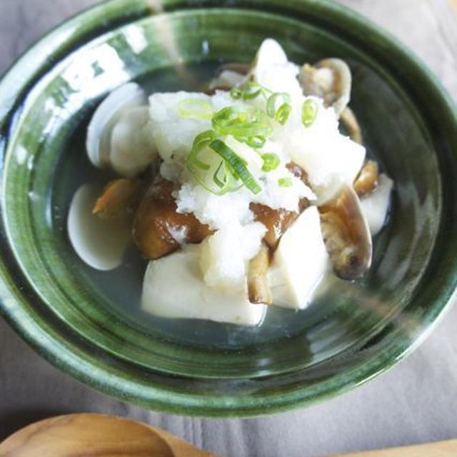 あさりと豆腐のおろし煮*10月2日豆腐の日